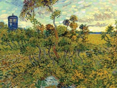 Vincent Van Gogh Tardis at Montmajour Oben Poster Print, 122x92 cm