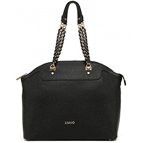 Borsa shopping Liu Jo L anna chain nero