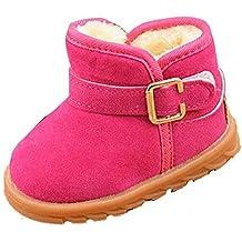 infantil mejor opción, Koly Adición de botas de algodón nieve del invierno (21, Rosa caliente)