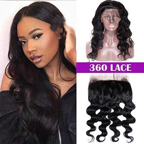 Silk-co 360 closure extension chiusura capelli veri umani virgin hair top lace front closure ricci 40cm-100g