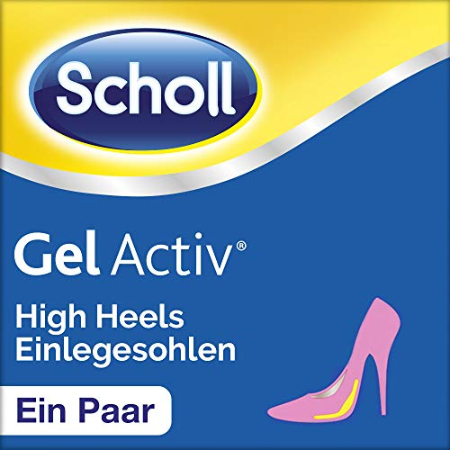 Scholl Gel Activ Einlegesohlen für High Heels und Schuhen mit Absätzen über 5,5 cm - Ultraweiche Gel Einlegesohle für extremen Komfort - 1 Paar, passend für Schuhgröße 35-40,5 - High Heel Heels Laufen