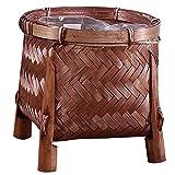 Cestino vintage fatto a mano cestino di bambù cesto portaoggetti Plant Holder Handmade bambù vintage cestino tessitura da tè verde piante succulente vaso di fiori