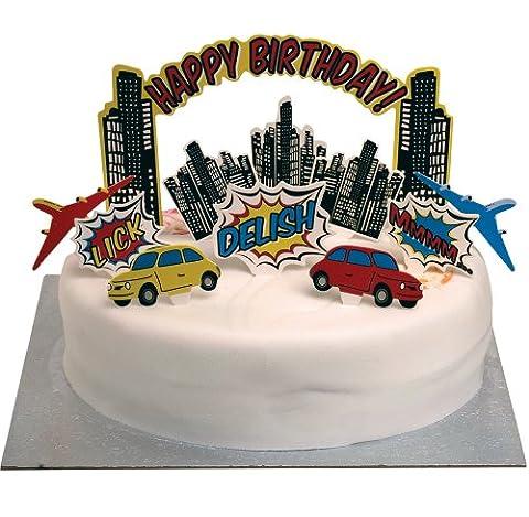 Kuchen Deko Set - Superheld Pop Art Party