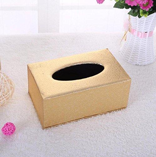 Tissue-Boxen, Continental Leder PU-Tissue-Box, Haushaltsprodukte Hotel Zimmer Papier-Box Desktop Aufbewahrungsbox, Bad Zubehör Tissue-Box,B2