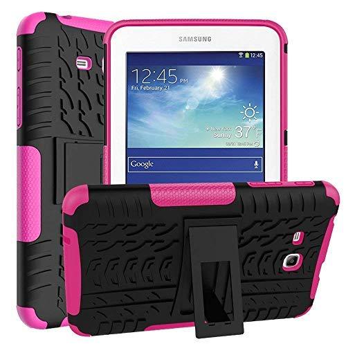 Asstar Schutzhülle für Samsung Galaxy Tab E Lite 7.0 SM-T113 und Tab 3 Lite T110 / T111 Schwarz/Rosé