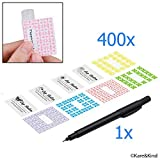 Kare & Kins Labels For Lip Balm Tubes 400 Stickers 200 Writable Stickers And 200 Printed Stickers Self Adhesive Fineliner Pen Included For Label Writi