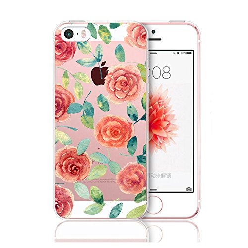 iPhone 5 5s hülle Schutzhülle Clear Case Cover Bumper Anti-Scratch TPU Silikon Handyhülle für iPhone SE 14