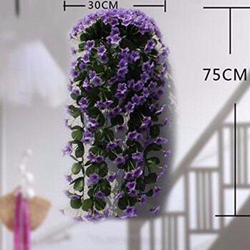 Meili flower simulazione outdoor fiori viola appeso fiore fiori appesi cesto fiore parete parete floreale di fiori di decorazione a parete a flangia