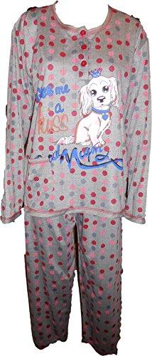 pyjama 727 Gris-Rouge