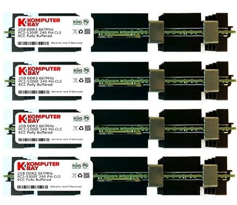 Komputerbay 8GB (4x 2GB) DDR2 PC2-5300F 667MHz CL5 ECC Fully Buffered 2Rx4 FB-DIMM (240 PIN) w/ Heatspreaders for Apple computers