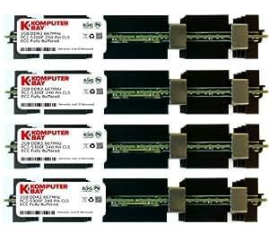 Komputerbay 8Go (4x 2Go) DDR2 PC2-5300F 667 CL5 ECC Fully Buffered 2RX4 FB-DIMM (240 PIN) avec répartiteurs de chaleur pour les ordinateurs Apple