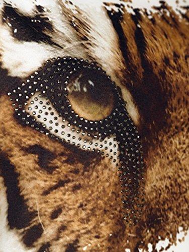 Damen Shirt mit Tigermotiv by AMY VERMONT wollweiß/leo