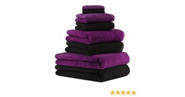 Betz 8 Piece Towel Set DELUXE 2 Bath Sheets 90x140 cm 2 Bath Towels 70x120 cm 2