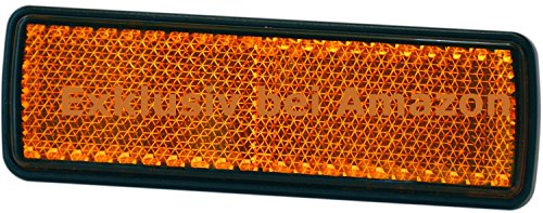 Reflektor Rückstrahler Katzenauge orange 98 x 30 mm selbstklebend