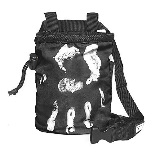 LACD Chalk Bag Farbe schwarz: Magnesium Tasche für klettern & bouldern, Frauen & Männer, chalkbag ist aus super strapazierbaren und stabilen Material und staubdicht || Hand of Fate