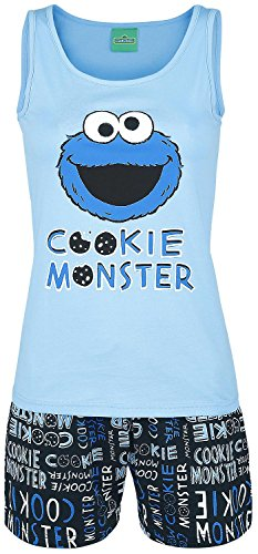 sesame-street-cookie-monster-pigiama-azzurro-nero-xl