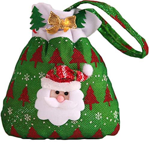 Zalock Christmas Decorations Gift Bags Santa Claus Gift Bags Candy Bag Handbag Nice Decoration for Festival Banquet Party