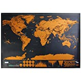 Club Lane New Deluxe Travel Edition Scratch Off World Map Poster Personalized Journal Map Gift India Souvenir Collectible