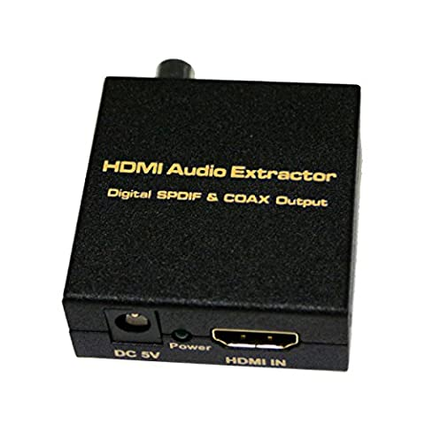 WenL HDMI V1.4 Digital Audio Extractor HDMI Input SPDIF + COAX Output Support TDS / DUBOY-AC3