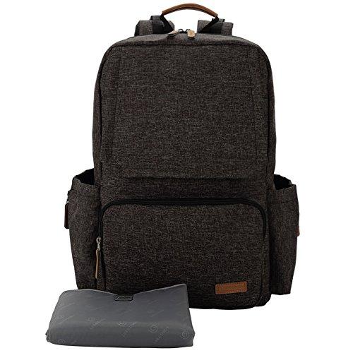 Preisvergleich Produktbild Lekebaby Unisex Wickeltasche Baby Rucksack mit Wickelunterlage für Mom und Dad, Schwarz