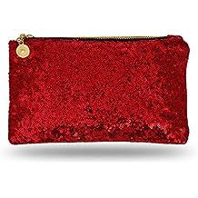 Lady Donovan - sac de soirée Noble pour les dames et les jeunes filles - Clutch avec fermeture à glissière - idéal pour une fête ou un mariage - noir HSqyf
