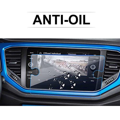 LFOTPP Compatibile con 8 Pollici Navigazione Pellicola Protettiva in Vetro VW T-Roc