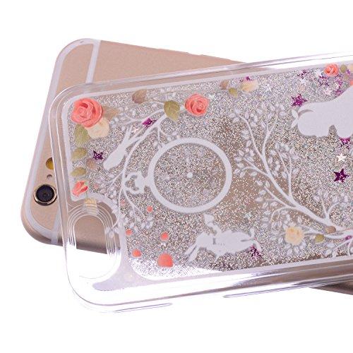Beiuns Coque en Plastique Circuler liquide pour Apple iPhone5 5G 5S Housse Case - WM523 Blanc comme neige WM523 Blanc comme neige