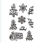 Frohe Weihnachten Schneeflocken Gummi Clear Stempel/Siegel, Scrapbook/Foto-Dekoration, für Karten