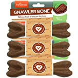 Pure Breed Fleischknochen knabbern (Kauspielzeug für Hunde mit Fleischgeschmack ohne Gift) Packung mit 3 (7 Zoll)