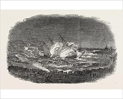 Photographic Print Of Wreck Of The Troop-Ship Charlotte. Attempt Of