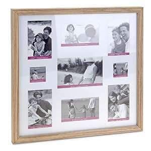 Cornici per 9 foto in legno e vetro 42 x 42 x 3 5 cm for Cornici amazon
