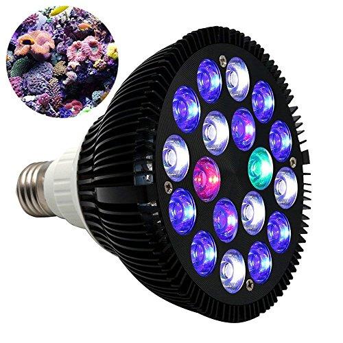 LED Pflanzenlicht 2 Stück LED Aquarium Lichter 18W Wachstumslicht 18 Stück 1W Für Wachsende Und Blühende Süßwasserfische Und Korallen