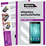 dipos I 2X Schutzfolie klar passend für Wiko Robby Folie Bildschirmschutzfolie
