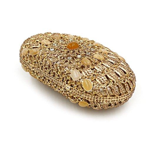 Sacchetto Di Banchetto Di Diamante Di Alta Qualità Della Borsa Del Sacchetto Di Sera Di Diamanti Di Lusso Delle Donne OneColor