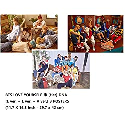 BTS - LOVE YOURSELF [Her] DNA [E ver + L ver + V ver] 3 POSTERS(11.7 X 16.5 inch)