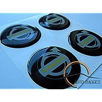VOLVO Juego de 4 emblemas autoadhesivos de emblema de plástico de 50 mm para solicitar cubiertas