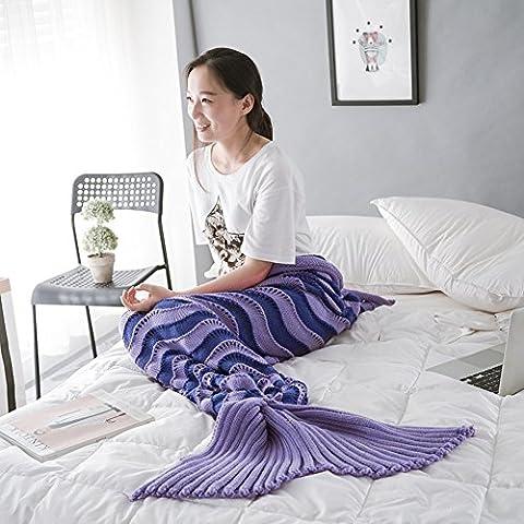 Candora colore colorful coda da sirena divano coperta, l