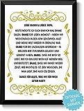 DANKE FÜR ALLES - optional mit Rahmen - Geschenk Geschenkidee Geburtstag Hochzeitstag Weihnachten Eltern Mama Papa Geburtstagsgeschenk Mutter Vater