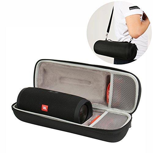 Hart EVA Tasche für JBL Charge 3 Tragbarer Bluetooth-Lautsprecher - passt USB-Stecker und Kabel - Schwarz (Handwerks-taschen Weiße)