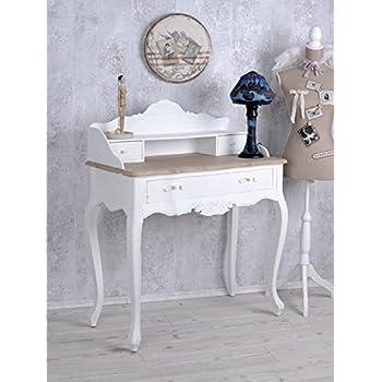 vintage sekret r weiss schreibtisch shabby chic tischkonsole wandtisch palazzo exclusiv amazon. Black Bedroom Furniture Sets. Home Design Ideas