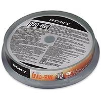 Sony 10DMW47SP - Bobina de 10 DVD-RW regrabables, 4.7 GB 1x-2x