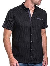 BLZ jeans - Chemisette homme noir chic à motifs