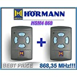 2 X Télécommande HÖRMANN HSM4 , 868,35 Mhz