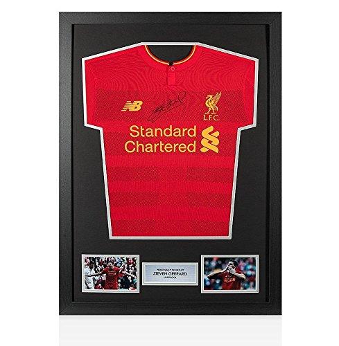 Framed Steven Gerrard Front Signed Liverpool Shirt - Home, 2016/2017