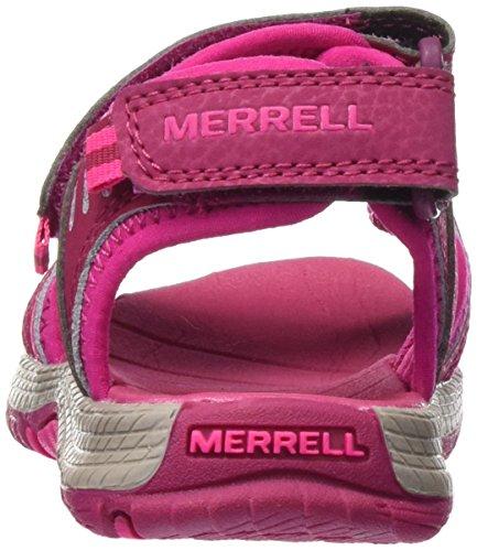Merrell PANTHER SANDAL, Sandali sportivi unisex bambino Rosso (Berry)