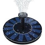 Feelle Solar Springbrunnen Pumpe 1.4W Solar Panel Schwimmend Brunnen Wasser Pumpe für Vogelbad, Teich, Pool und Gartendekoration