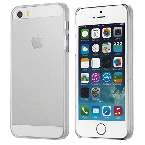 totallee la XS - Coque Ultra Fine Transparent - Coque à clipser rigide transparent pour iPhone 5/5S/SE