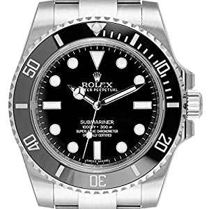 Rolex Submariner 114060 - Índice de acero inoxidable, color negro 5