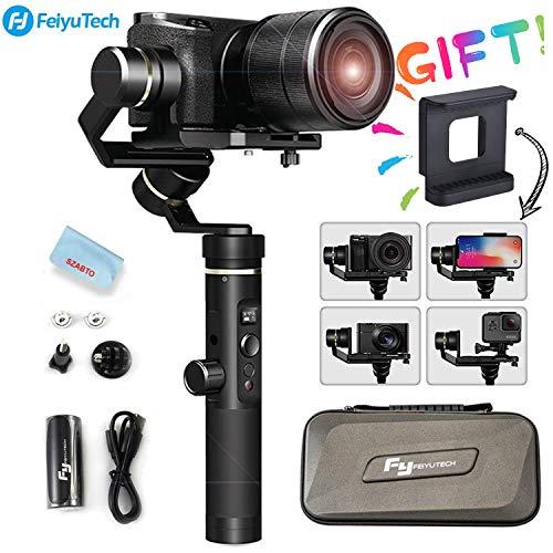 FeiyuTech G6 Plus 3-Axis Splashproof Handheld Gimbal für spiegellose Kamera/Taschenkamera/GoPro/Smartphone, Nutzlast 800 g Single Use-video-kamera