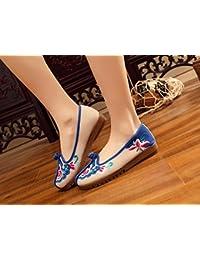DESY scarpe Belle ricamati, biancheria, unico tendine, stile etnico, scarpe femminili, moda, comodi, scarpe di tela , beige , 41